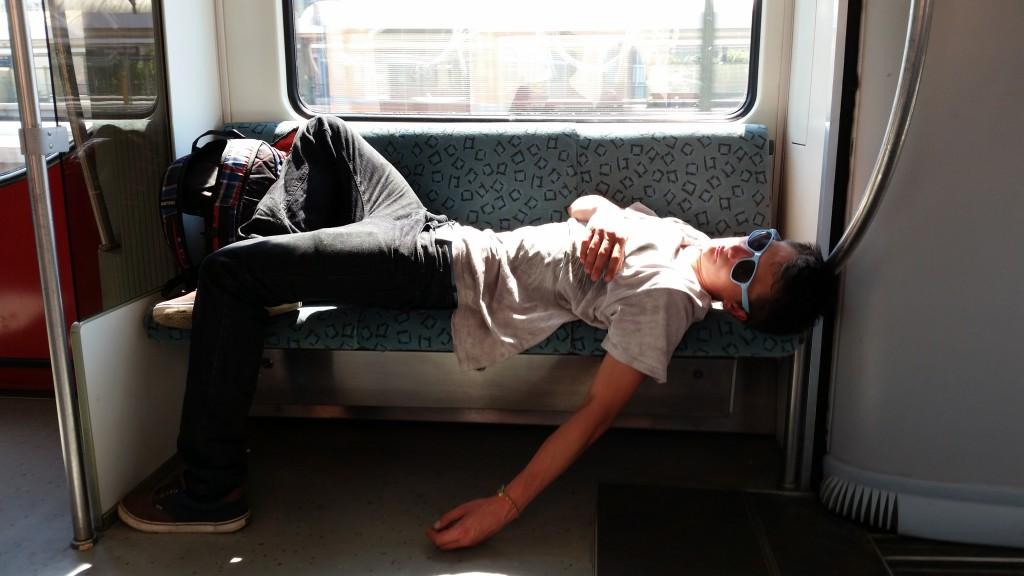 Berlijn, zondagochtend in de metro